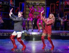 Kinky Boots' Musical performed at the Adelphi Theatre, London, UK, 10 Sep 2015 Killian Donnelly as Charlie Price, Mat Henry as Lola, 10 Sep 2015