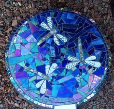 mosaic dragonfly   mosaic dragonfly stepping stone - SOLD