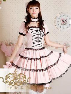 Women's Clothing Japanese Women Black Lolita Style Cute Tutu Dress Gothic Dark Ruffles Pleated Cosplay Costume Girls Kawaii Lace Layered Dresses Ture 100% Guarantee