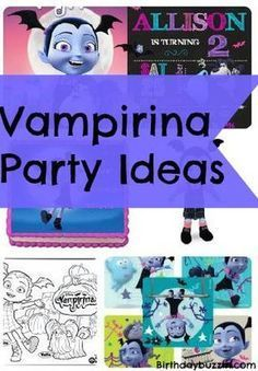 Vampirina Birthday Party Ideas and Themed Supplies - features free printables
