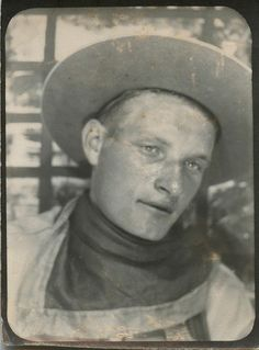 ** Vintage Photo Booth Picture **   Cowboy it is...