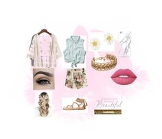 """""""Spring love"""" by frania-hernandez on Polyvore featuring Abercrombie & Fitch, VILA, Kate Spade and Lime Crime"""