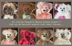 Muppie's Beren - Handgemaakte teddyberen en berenkleding Beer, Teddy Bear, Toys, Animals, Root Beer, Activity Toys, Ale, Animales, Animaux