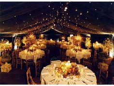 iluminación para boda en otoño e invierno