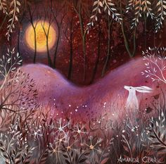 The Rose Moon   -   Amanda Clark- art gallery, original paintings