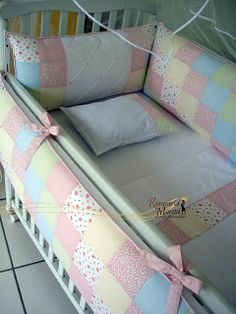Parabéns A Você Mamãe (47) 3323-2318 - KIT berço, Enxoval para Bebê, Cama auxiliar, cama Babá, prot: Enxoval Bebê Tema Patchwork Colorido