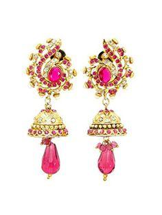 Imitation Designer Stone Jhumka Earring / AZINJEI143-GPI Arras Creations http://www.amazon.com/dp/B00WNFWWWO/ref=cm_sw_r_pi_dp_KN8qvb1TAHH73