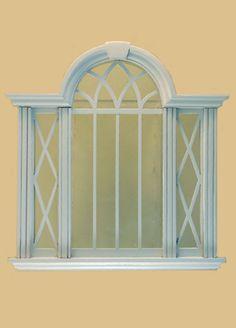 Full Scale Cambridge Decorated Double Window, White