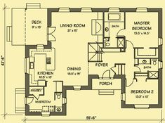 Architectural House Plans : Floor Plan Details : Straw Bale Country Home