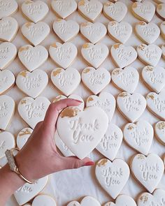 The best part about sending out Thank You cookies instead of cards? They taste better. Order now with ? Biscuit Wedding Favours, Honey Wedding Favors, Wedding Thank You Gifts, Creative Wedding Favors, Inexpensive Wedding Favors, Edible Wedding Favors, Wedding Gifts For Guests, Cheap Wedding Invitations, Cool Wedding Cakes