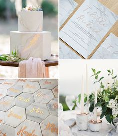 Marble Wedding Details // Top 10 Wedding Trends for 2017 // www.onefabday.com