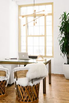 It's Official: This Light-Filled Office Is Your Dream Work Space - The Everygirl