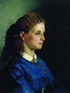 Portrait of Yanitskaya - Ilya Repin