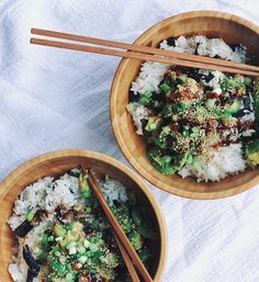 sushi bowl//pinterest: juliabarefoot