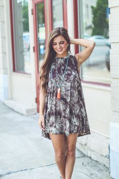 This tie dye dress is the perfect piece to rock towards the end of summer and then pair it with a kimono for early fall!