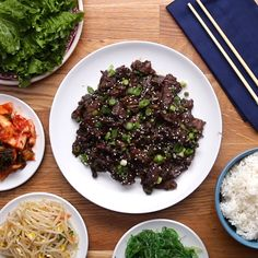 Korean BBQ-Style Beef (Bulgogi) We used a different cut of beef and would let it marinate a little longer if time allows. Salmon Recipes, Asian Recipes, Beef Recipes, Chicken Recipes, Cooking Recipes, Proper Tasty, Tasty Videos, Health Dinner, Beef Dishes
