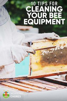 Composting Cleaning Bee Equipment: 6 Tips to Do It Right (and How Often You Should) - Do you know how to clean your beekeeping equipment? Well, you need to. Here are our tips on how to clean it the right way. Bee Equipment, Cleaning Equipment, Camping Equipment, Drone Bee, Bee Hive Plans, Beekeeping For Beginners, Beekeeping Equipment, Beekeeping Supplies, Raising Bees