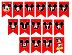 Disney Mickey Mouse Birthday Banner