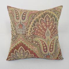 Vellore Woven Paisley Toss Throw Pillow