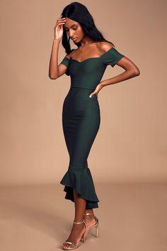 11 Gambar Mermaid midi dress terbaik | Gaun, Pakaian wanita