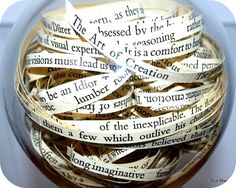 Jar with quotes. Great idea