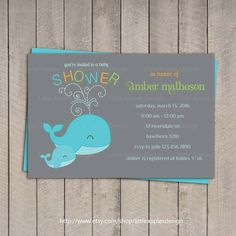 Wonderful Grey and Turquoise Baby Shower Invitation Template Sample Design Colorful Text.