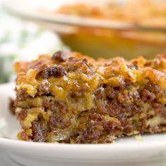 Impossible Cheeseburger Pie - Super easy and delicious! This yummy recipe is full of cheesy beefy flavor that everyone loves. Impossible Cheeseburger Pie - Super easy and delicious! This yummy recipe is full of cheesy beefy flavor that everyone loves. Slow Cooker Recipes Cheap, Slow Cooker Recipes Family, Slow Cooker Recipes Dessert, Cooking Recipes, Dessert Recipes, Bisquick Recipes, Cheese Burger, The Best, Easy Meals