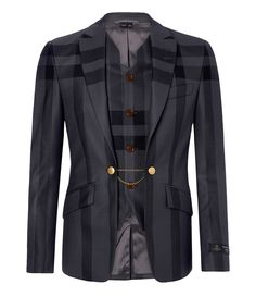 Windowpane Waistcoat Jacket #MAN #AW1415