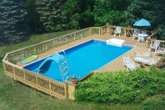 Pool Ideas For Bd On Pinterest Above Ground Pool Above