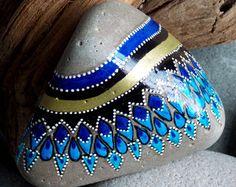 Santorini / pintado piedras / rocas de pintado por LoveFromCapeCod