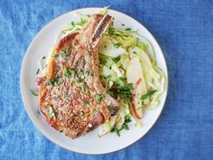This juicy Seared Pork Chops with Apple-Cabbage Slaw will make your weeknight dinner more memorable.