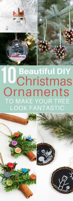 These DIY Christmas Ornaments are AWESOME! Now my Christmas tree will look GREAT! I'm definitely repinning! #christmas #christmasdecor