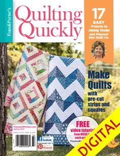 - Quilting Quickly Spring 2013 Digital Issue... Love this sweet lady and love her quilts!