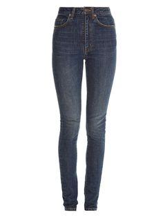 High-rise skinny jeans   Saint Laurent   MATCHESFASHION.COM US