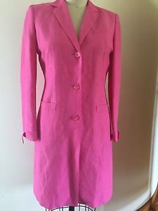 Talbots Linen Dresses | Details about Talbots Pink Linen Blend Dress Coat Size 8