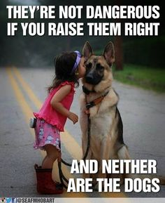 Protector & Princess! Children and dogs should be paired well and trained to co-exist together. This is essential for safety and for a happy, healthy home. www.PreciousPawPrints.com
