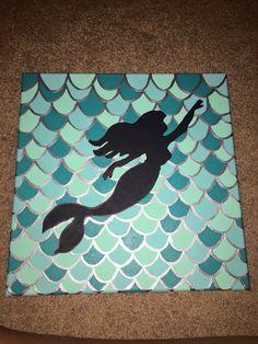 Ariel little mermaid canvas Mais Little Mermaid Painting, Little Mermaid Crafts, Little Mermaid Quotes, Little Mermaid Decorations, Disney Kunst, Disney Art, Disney Canvas Paintings, Mermaid Paintings, Diy Canvas