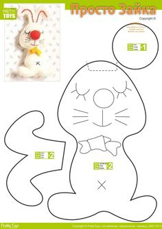 Zajączek, How to Make a Toy Animal Plushie Tutorial Plushies Tutorial , Animal Plushies, Softies & Furries Arts and Crafts, Diy Projects, Sewing Template , animals, plush, soft, toy, pattern, template, sewing, diy , crafts, kawaii, cute, sew, pattern, critter, bunny rabbit