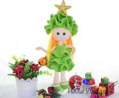 Doll With Pine Tree Costume Christmas Decoration - Amigurumipatterns.net