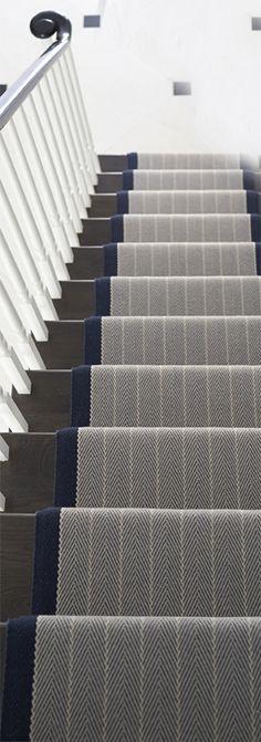Dart Midnight Blue stair runner from Roger Oates #StairsandStripes