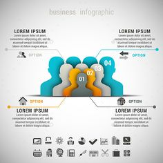 Business Infographic — Vector EPS #template #blue • Available here → https://graphicriver.net/item/business-infographic/9793845?ref=pxcr