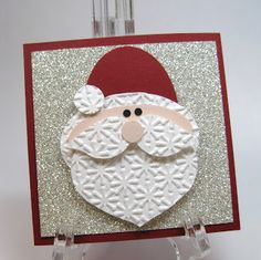 Blinged Santa 3 X 3 Card