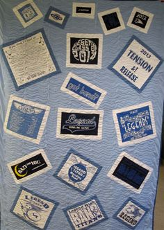 T-shirt Quilt: Twin Size Custom Made 100.00 Dollar by Quiltopoly