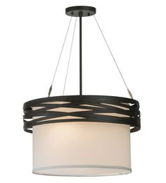 Cilindro Complex 2 Light Drum Pendant