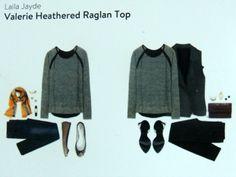 Stitch Fix Laila Jayde Valerie Heathered Raglan Top- nice simple top for weekends
