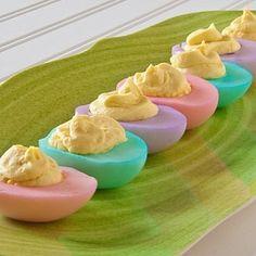 Dyed Easter Deviled Eggs – How To Make Deviled Eggs – Deviled Egg Recipes