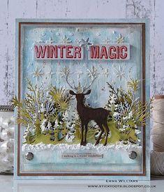 Winter Magic created for the Simon Says Stamp Monday Challenge Blog