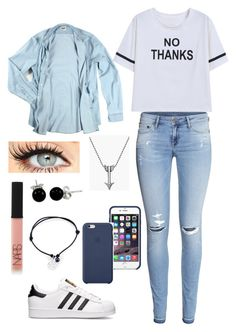 """""""Sin título #125"""" by fernandaaml ❤ liked on Polyvore featuring H&M, adidas, Acne Studios, NARS Cosmetics, Alex Woo, Bling Jewelry and Footnotes Too"""