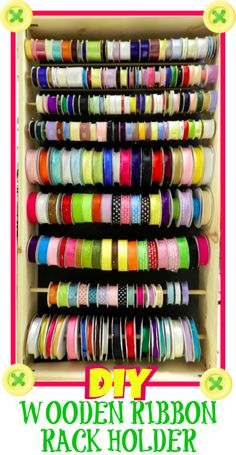 {Craft Organization} How to Make a Wooden Ribbon Rack Holder | Bowdabra Blog