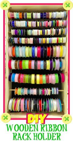 {Craft Organization} How to Make a Wooden Ribbon Rack Holder | Bowdabra Blog